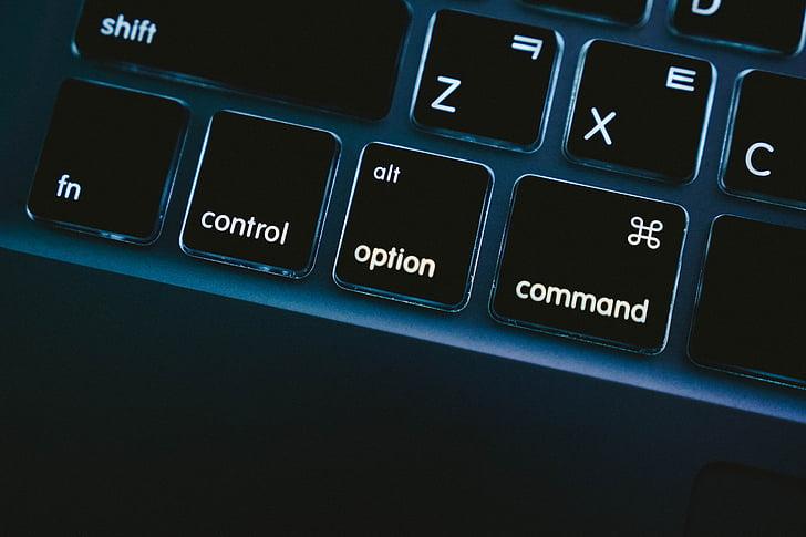 MacBook, MacBook pro, klávesnica, príkaz, Možnosti, ovládanie, Počítačová klávesnica
