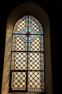 venster, kerk venster, Gebrandschilderd glas, kleurrijk glas, glas, religie, het platform