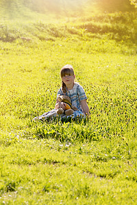 ανθρώπινη, το παιδί, Κορίτσι, συνεδρίαση, αρκουδάκι, αρκουδάκι, αναφέρθηκαν