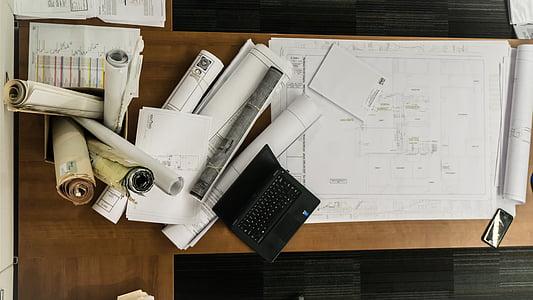 dibuix, arquitectura, plans de, dibuix d'arquitectura, construcció, projecte, Pla