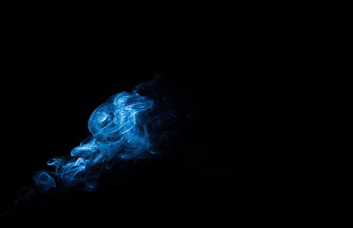 吸烟, 艺术, 吸烟, 聚光灯下, 建设, 黑色背景, 没有人