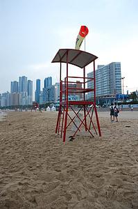 Playa, arena, mar, Busan, Playa de arena, hermosas playas, Mirador