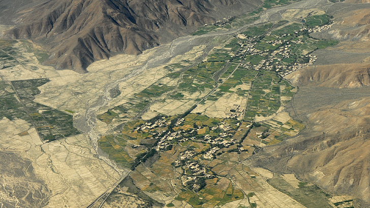 himalayas, fly, mountains, landscape, agriculture, aerial View, nature