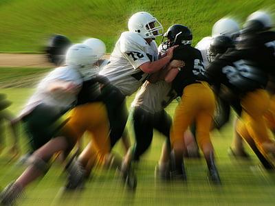 kids, football games, tackle, sports, team, football
