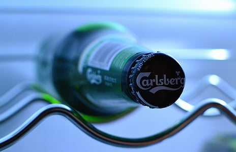 Pivo boca, Carlsberg, hladnjak, hladnjak, kul, svježe, napitak