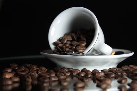 cafè, Copa, tassa de cafè, cafeteria, Cullera, aroma de, fesols