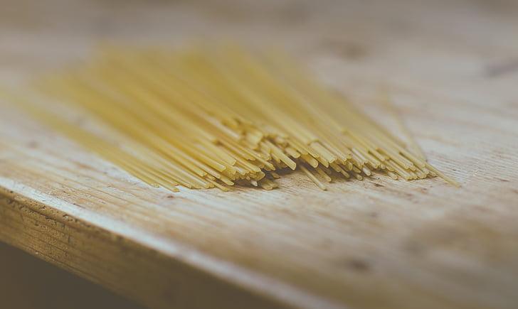 pastes, coure, fideus, aliments, saborosa, sec, fusta - material