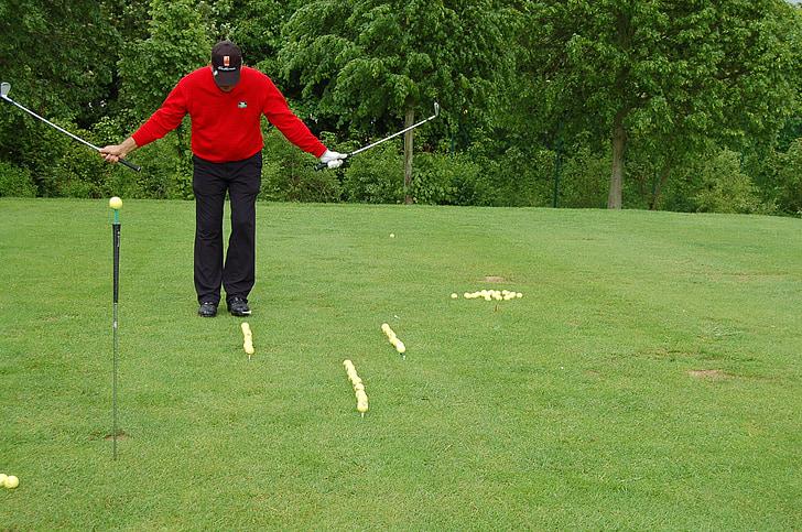 golfeur, Golf, Artistry, sport, clubs de golf, balles de golf, exercice