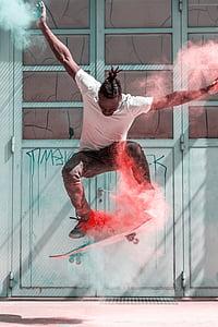 skateboard, rolkar, skae, način življenja, rolkanje, človek, drsalec