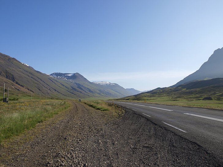 iceland, landscape, road, away