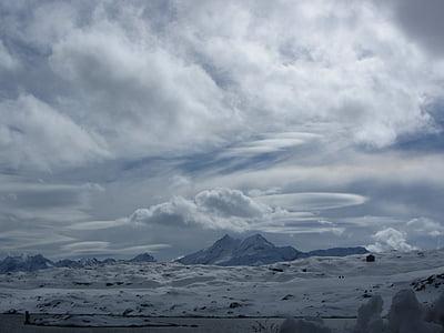 Grimsel pass, l'hivern, Suïssa, alpí, Llac, fred, muntanyes