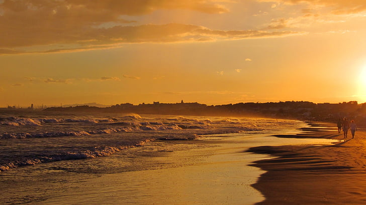 스페인, 물, 바다, abendstimmung, 일몰, 타 라고 나