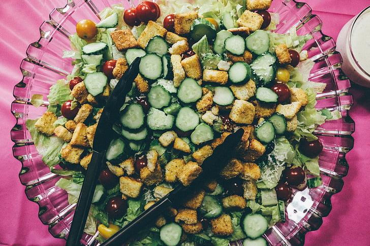 salade, gezonde, voedsel, vers, plantaardige, gezond eten, gezond eten
