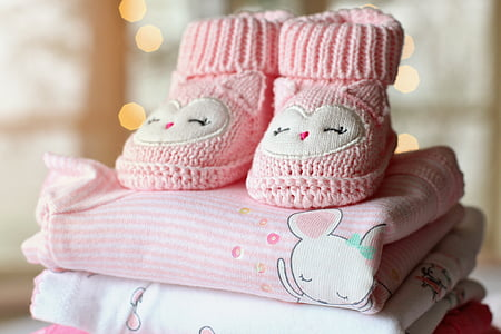 booties, baby, girl, baby girl, baby clothes, pink, tiny