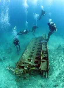 ronioci, more, oceana, vode, pod vodom, metala, smeće