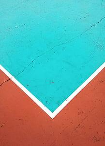 latar belakang, Lapangan, olahraga, lantai, warna, merah, biru