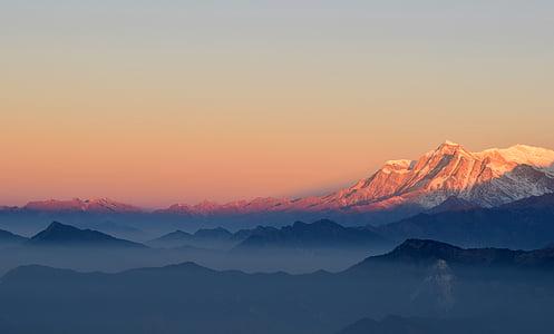 ομίχλη, Ιμαλάια, τοπίο, βουνά, τοπίο, Ανατολή ηλίου, ταξίδια