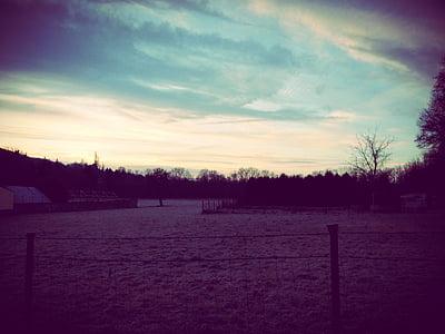 cels, cel, Alba, estat d'ànim, morgenstimmung, núvols, blau