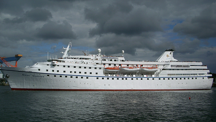 passagerarfartyg, fartyg, kryssning, kryssningsfartyg, Kiel, hamn