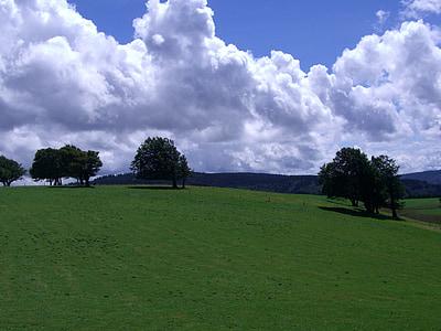 cuốn sách thời tiết, địa danh Schauinsland, rừng đen, đám mây