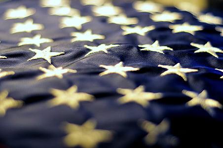 sao, màu xanh, Hoa Kỳ, biểu tượng, yêu nước, lòng yêu nước, Bảng quảng cáo