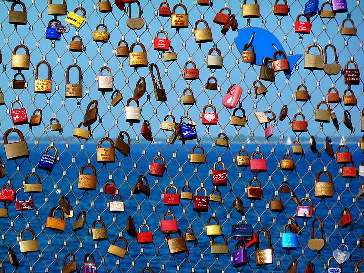 love, couples, love symbol, padlock, love oath