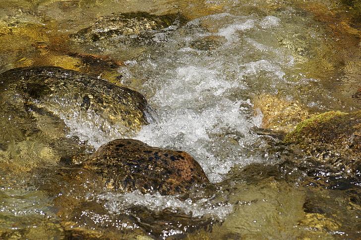 l'aigua, actual, riu, pedra