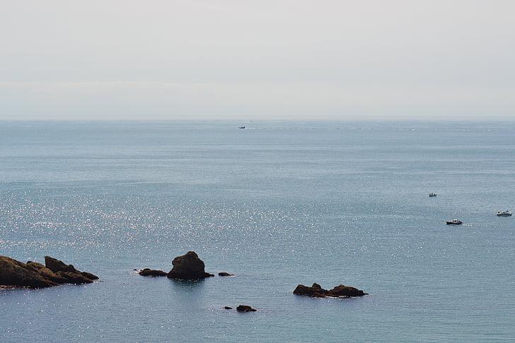 yên bình, tôi à?, Đại dương, buổi chiều mây mù, tàu thuyền, nước bình tĩnh, Jersey