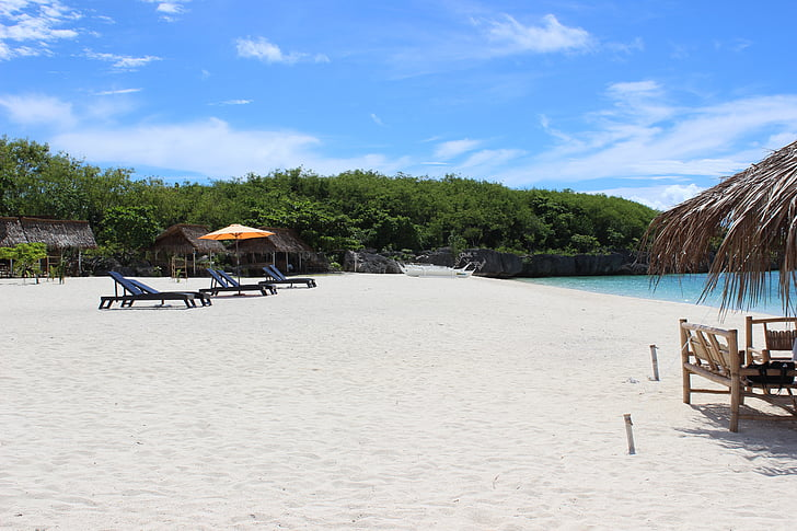 Beach, bel pesek, pesek, tropskih, raj, počitnice, Sprostite
