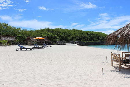 platja, sorra blanca, sorra, tropical, paradís, vacances, relaxar-se