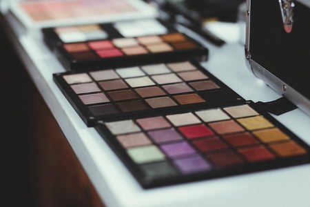 化妆, 包, 多彩, 化妆品, 眼影, 美容产品, 时尚