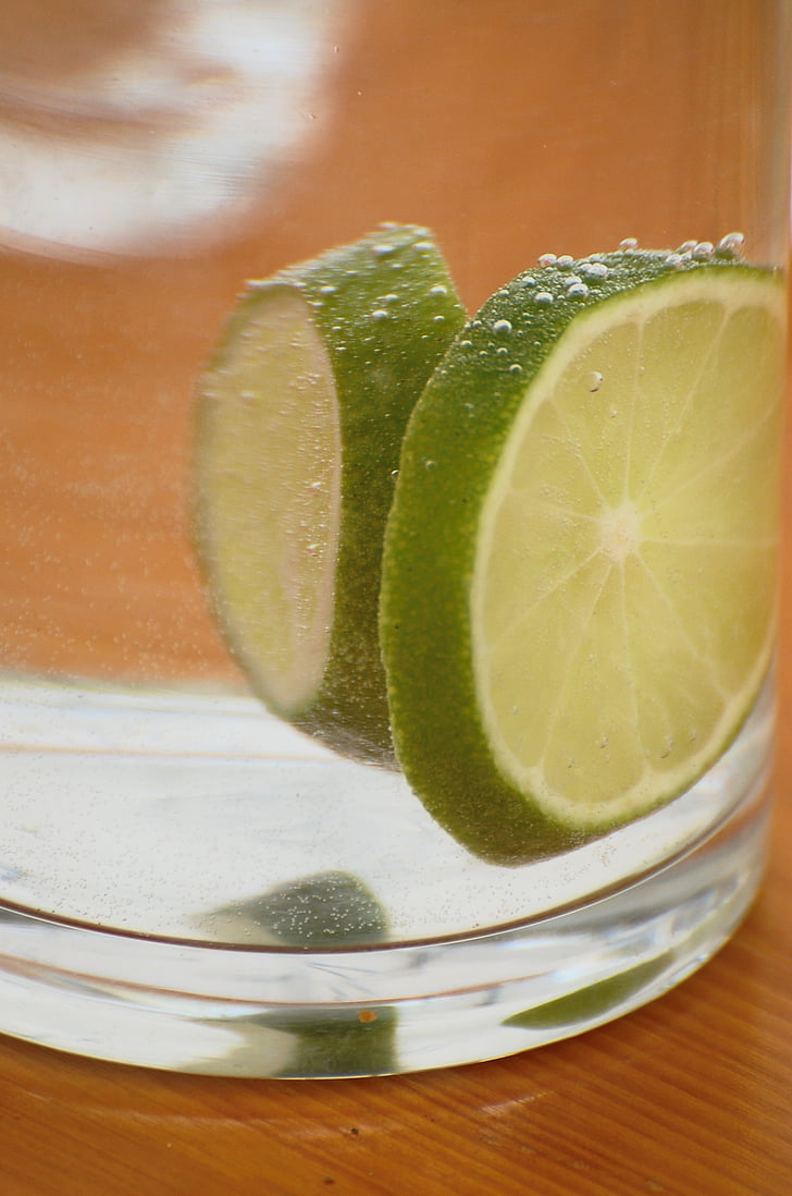 llimona, vidre, aigua mineral, àcid carbònic, beguda, Agra, set