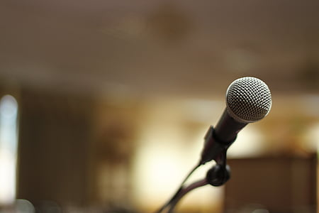 microphone, stage, sound, entertainment, mic, concert, karaoke
