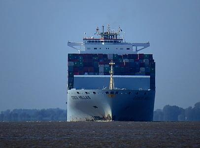 Elbe, Denizcilik, taşıma, konteyner gemisi, Denizcilik, gemi, su
