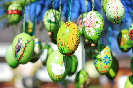 이스터에 그, 부활절, 부활절 달걀, 부활절 달걀 그림, 다채로운, 달걀, 봄