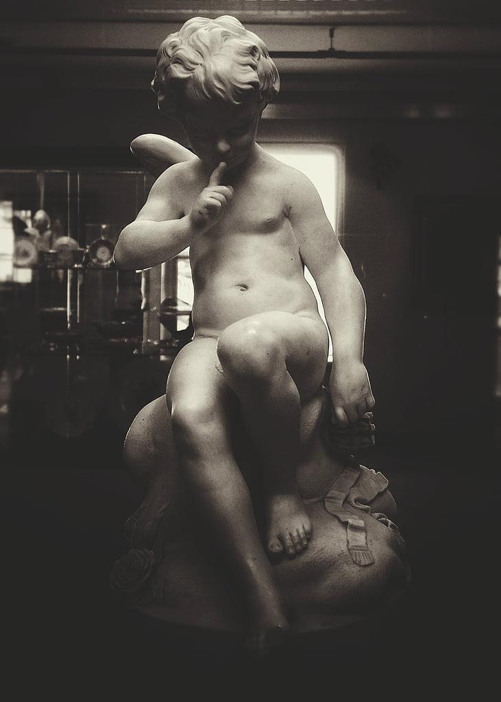 Museu, estàtua, secret, construcció muscular, Uvas, tors, només homes