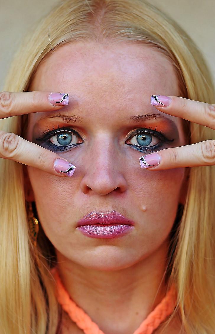 化妆, 女人, 化妆