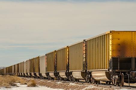 toget biler, tog, boxcars, for biler, jernbanen, jernbane, veien