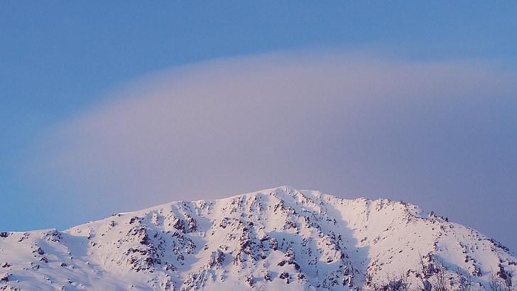 le paysage, neige, montagne
