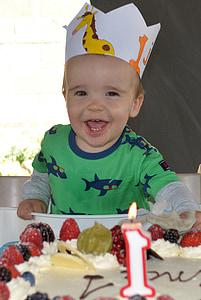 child, happy, joy, birthday, birthday cake, laugh, people
