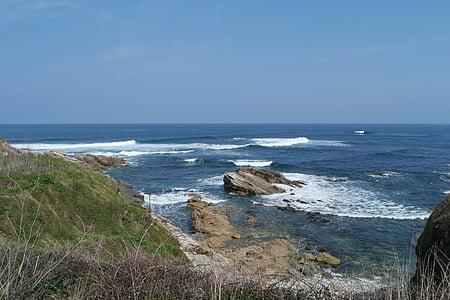 sea, atlantic, wave, forward, lake, holiday, spain
