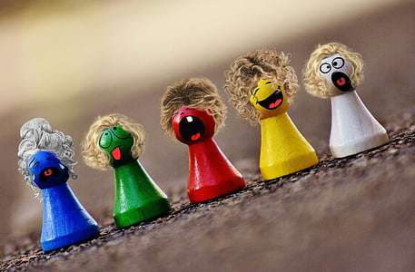 spēlēt akmens, krāsains, Smilies, jautrs, sejas, rādītāji, krāsa