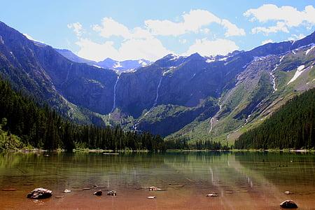 llac d'allaus, paisatge, reflexió, escèniques, muntanyes, horitzó, pic