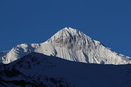 neu, muntanya, paisatge, taps de neu, cel, paisatge