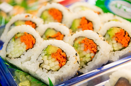 Sushi, rulli, kala, Jaapani, mereannid, toidu, riisi