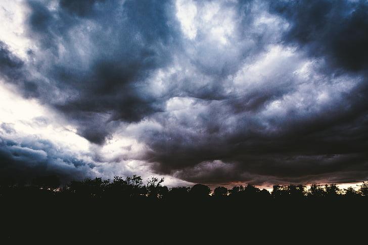 облака, Гром, Шторм, Темный, Погода, Драматический, Природа