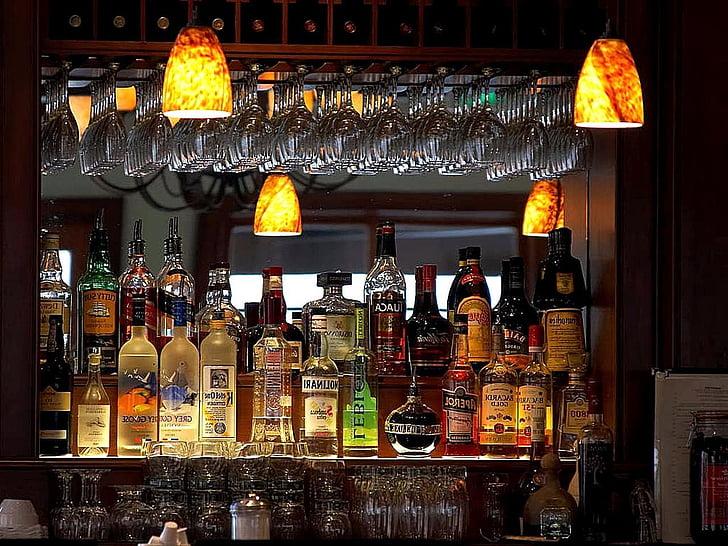 baarid, alkohoolseid jooke, disain, välispindade, sisustus