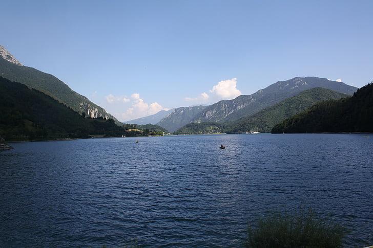 sjön, Garda, vatten, Italien, Gardasjön, på sjön, Riva del garda