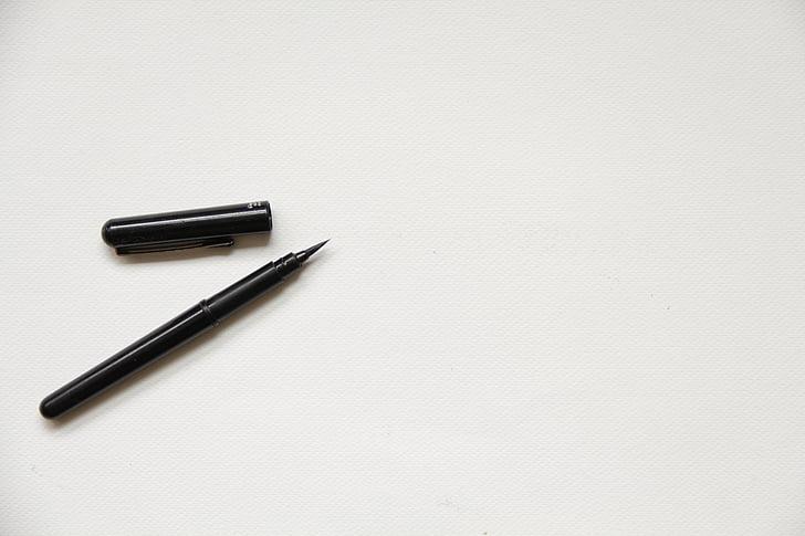 balta, popieriaus, tekstūros, fono, tuščias, maketas, rašiklis
