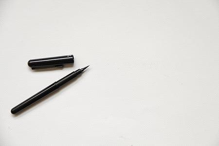 Blanco, papel, textura, Fondo, en blanco, maqueta, pluma